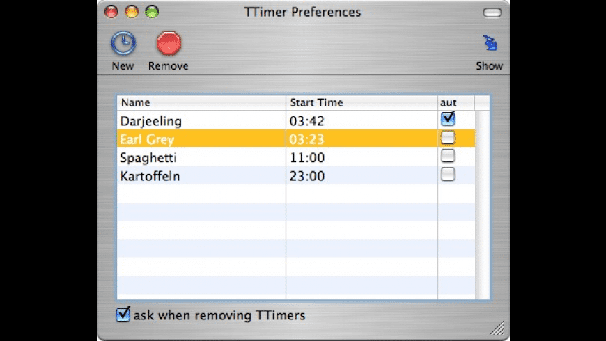 TTimer for Mac - review, screenshots