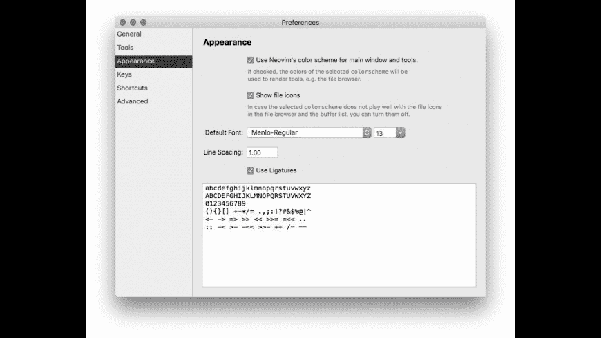 VimR for Mac - review, screenshots