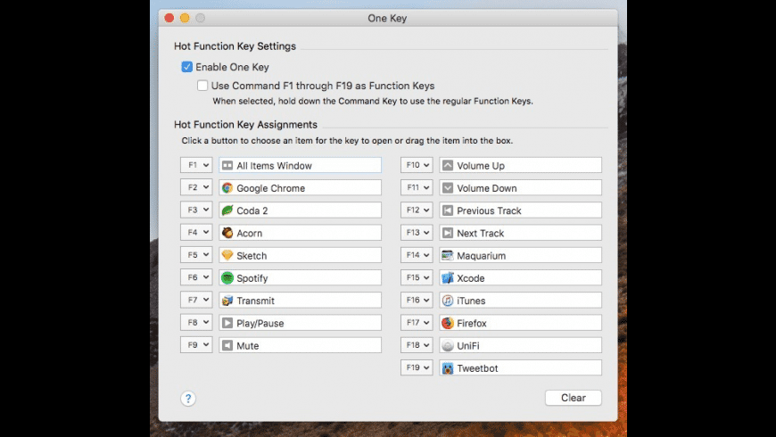 One Key for Mac - review, screenshots