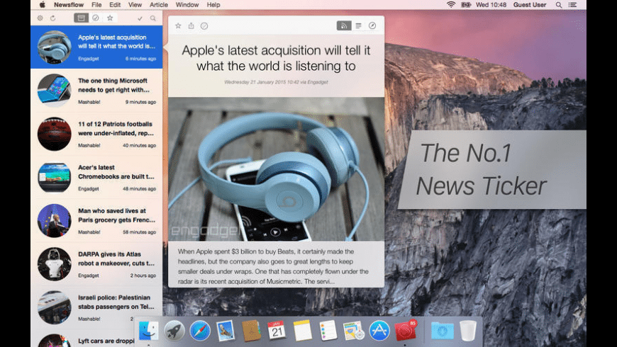 Newsflow for Mac - review, screenshots