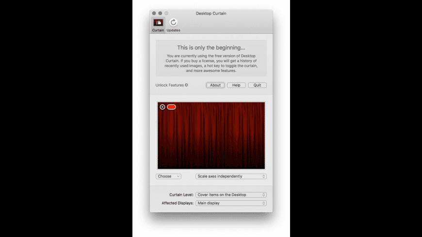 Desktop Curtain for Mac - review, screenshots