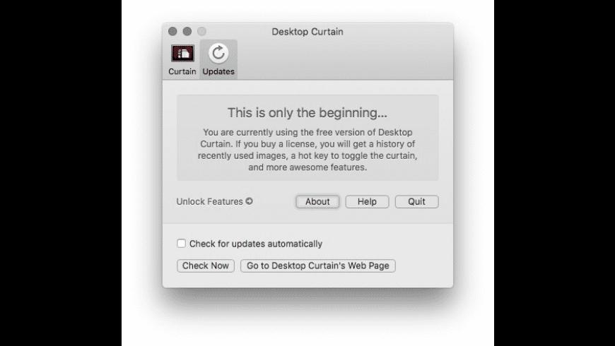 Desktop Curtain for Mac - review, screenshots