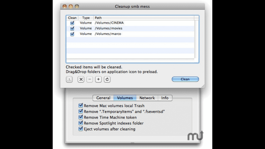 CleanUp smb mess for Mac - review, screenshots