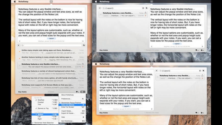 NoteAway for Mac - review, screenshots