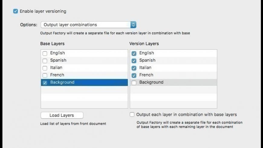 Output Factory for Mac - review, screenshots
