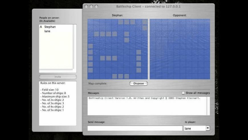 BSClient/BattleshipServer for Mac - review, screenshots