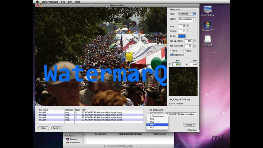 WatermarQue for Mac - review, screenshots