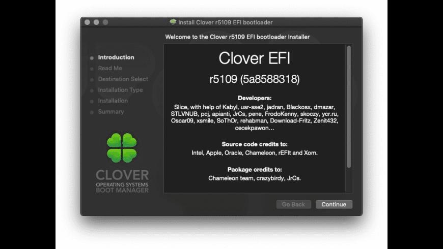 Clover EFI for Mac - review, screenshots