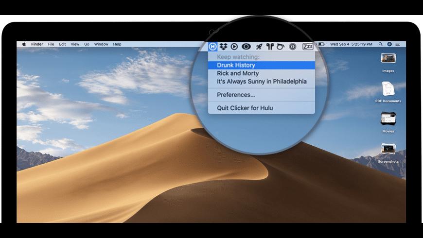 Clicker for Hulu for Mac - review, screenshots