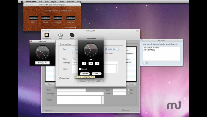 TimeLeft4 for Mac - review, screenshots