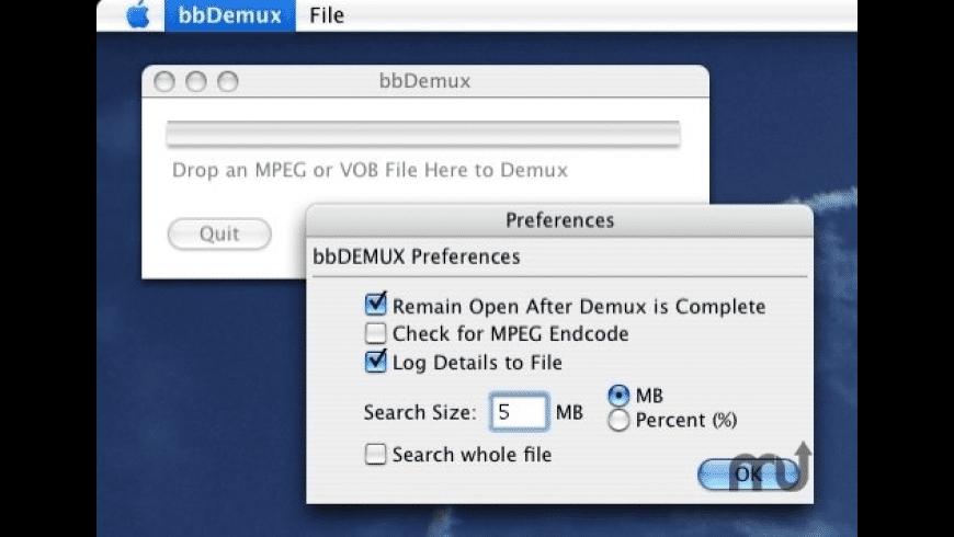 bbDemux for Mac - review, screenshots