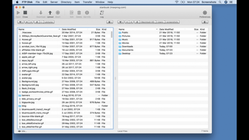 FTP Disk for Mac - review, screenshots