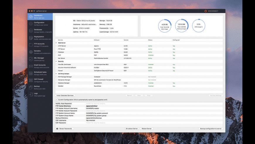 goPanel for Mac - review, screenshots