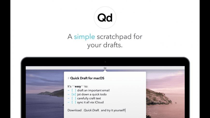 Quick Draft for Mac - review, screenshots