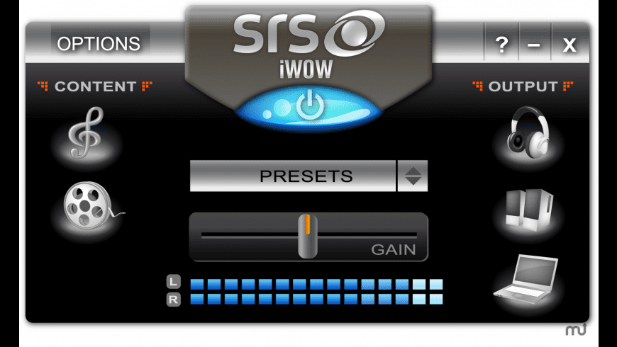 SRS iWOW Premium for Mac - review, screenshots