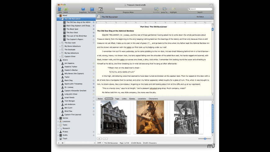 StoryMill for Mac - review, screenshots