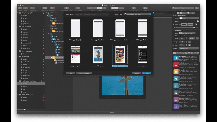 Thorium Builder for Mac - review, screenshots