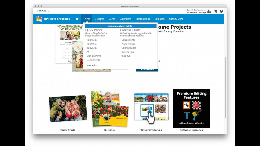 HP Photo Creations for Mac - review, screenshots