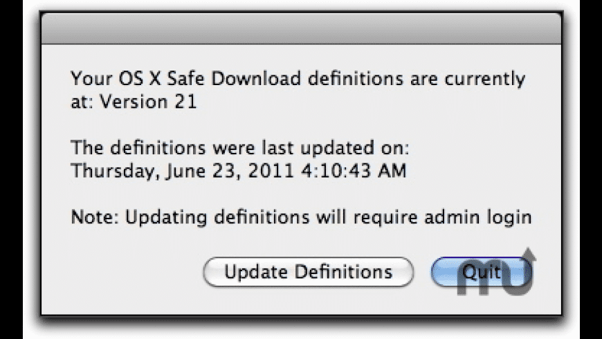 Safe Download Version for Mac - review, screenshots