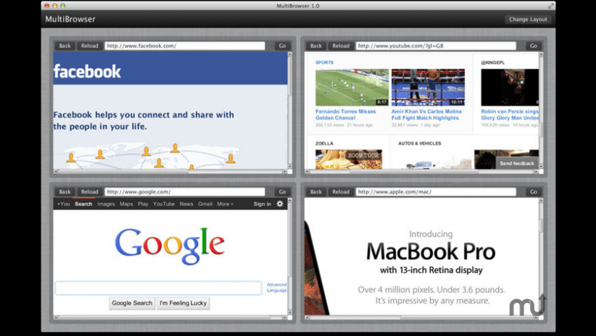 MultiBrowser for Mac - review, screenshots