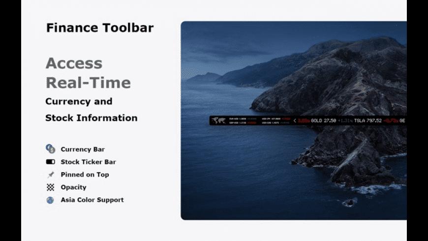 Finance Toolbar for Mac - review, screenshots