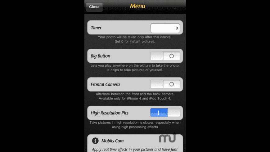 Mobits Cam for Mac - review, screenshots