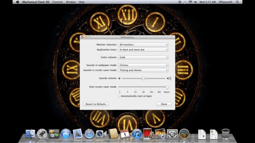 Mechanical Clock 3D for Mac - review, screenshots