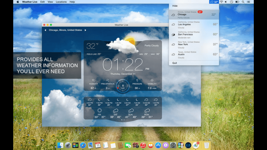 Weather Live for Mac - review, screenshots