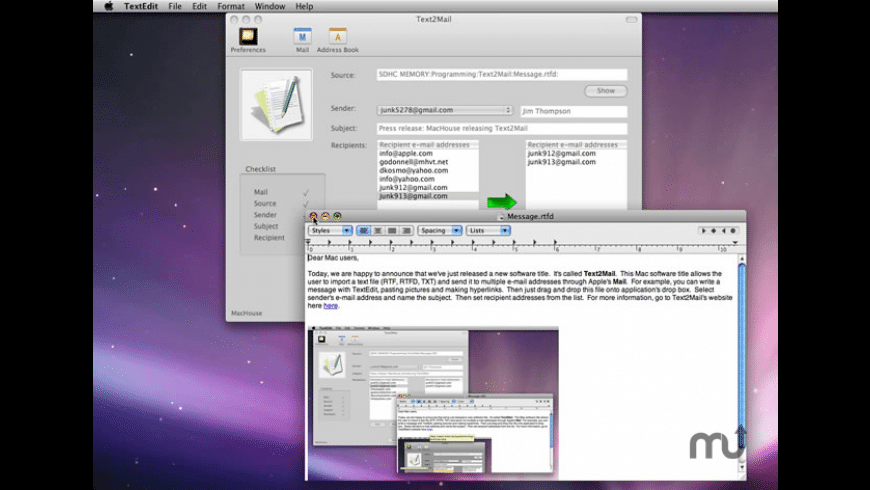 Text2Mail for Mac - review, screenshots
