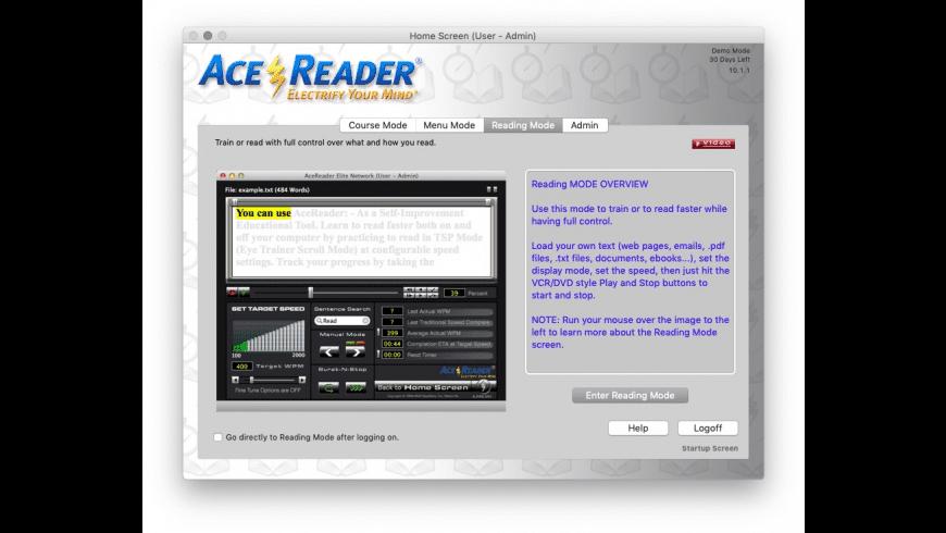 AceReader Elite for Mac - review, screenshots
