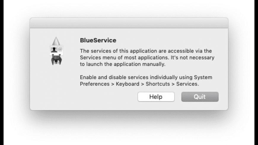 BlueService for Mac - review, screenshots