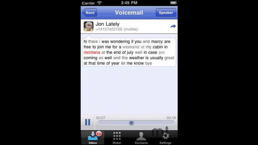Google Voice for Mac - review, screenshots