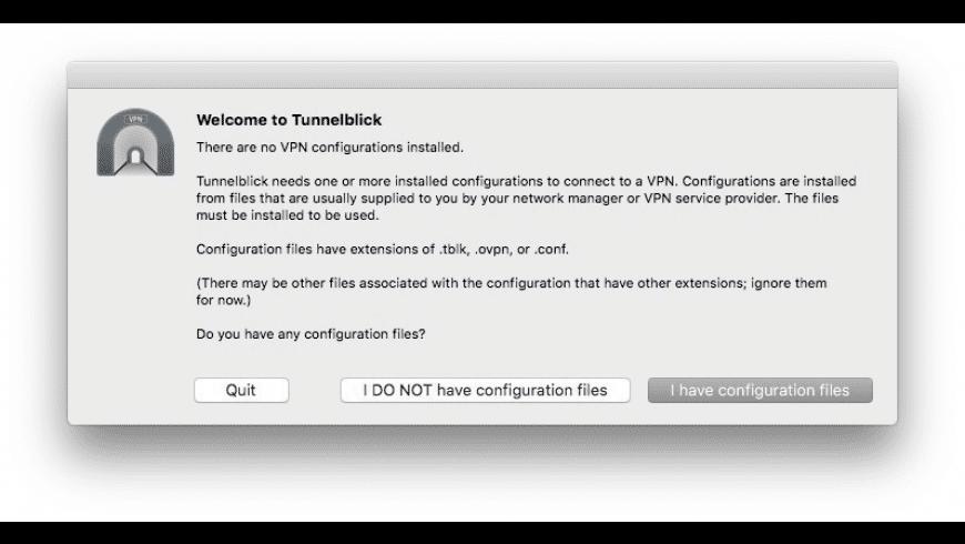 Tunnelblick for Mac - review, screenshots