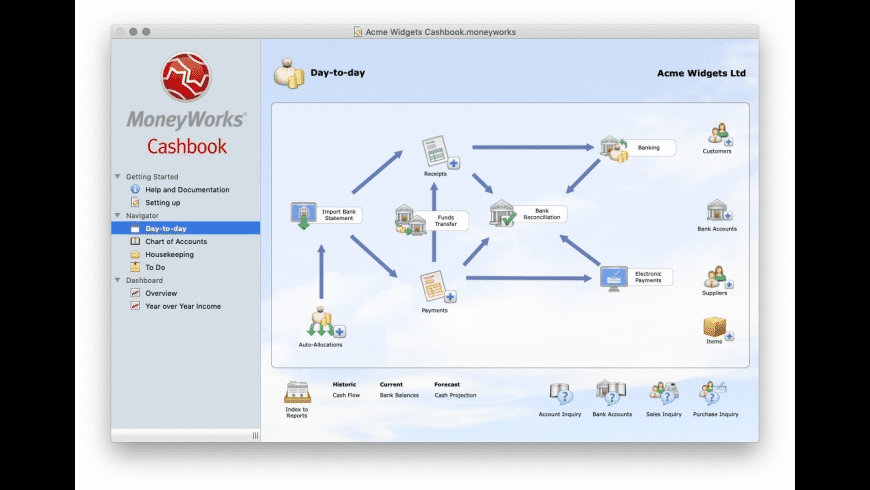 MoneyWorks Cashbook for Mac - review, screenshots