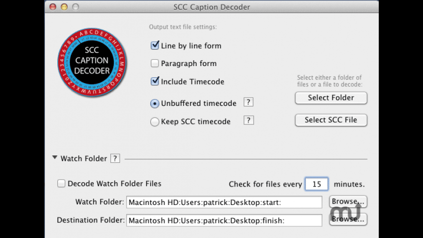 SCC Caption Decoder for Mac - review, screenshots