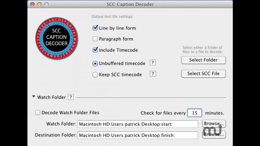 SCC Caption Decoder for Mac - review, screenshots