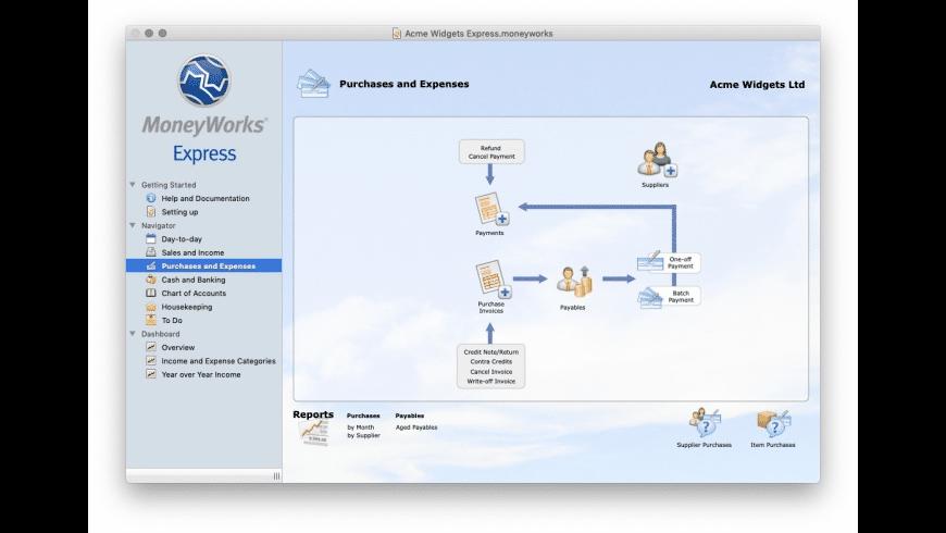 MoneyWorks Express for Mac - review, screenshots