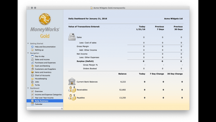 MoneyWorks Gold for Mac - review, screenshots