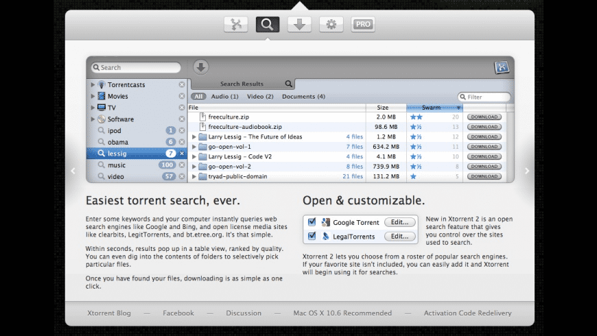 Xtorrent for Mac - review, screenshots