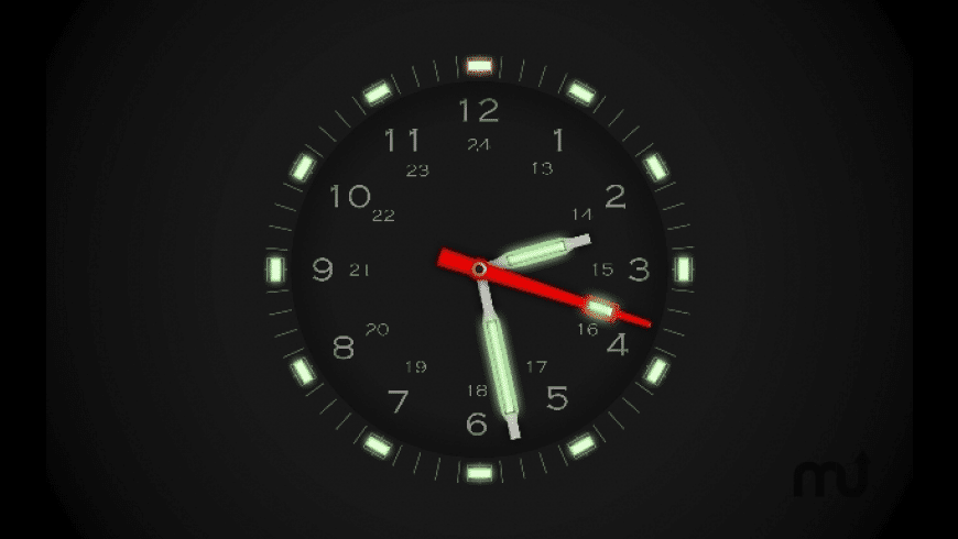 Illuminated Clock Screensaver for Mac - review, screenshots