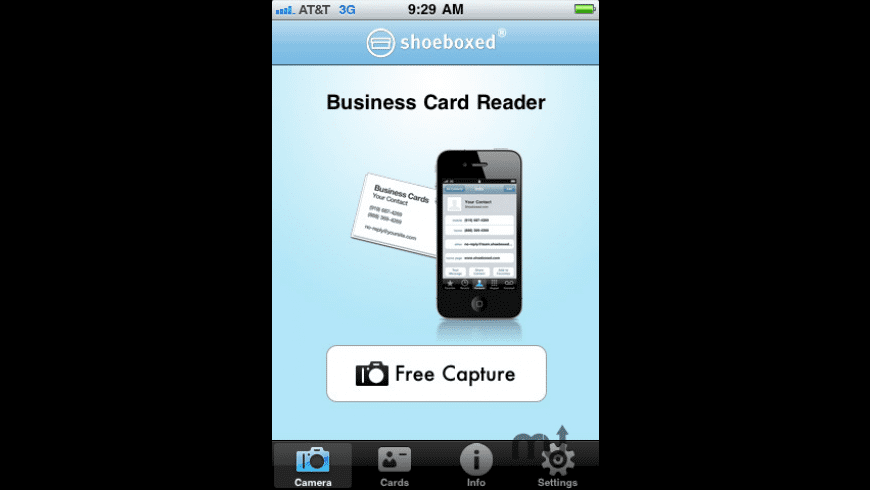 Shoeboxed Business Card Reader and Scanner for Mac - review, screenshots