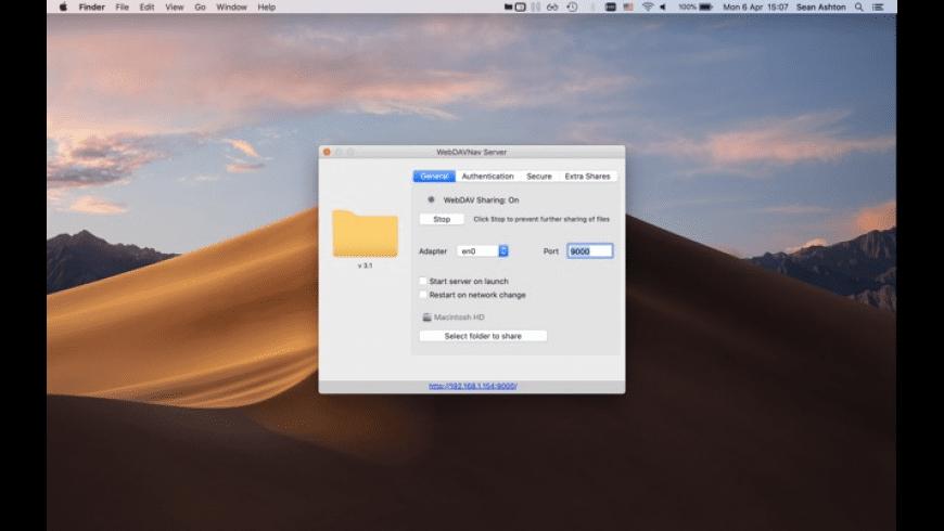 WebDAVNav Server for Mac - review, screenshots