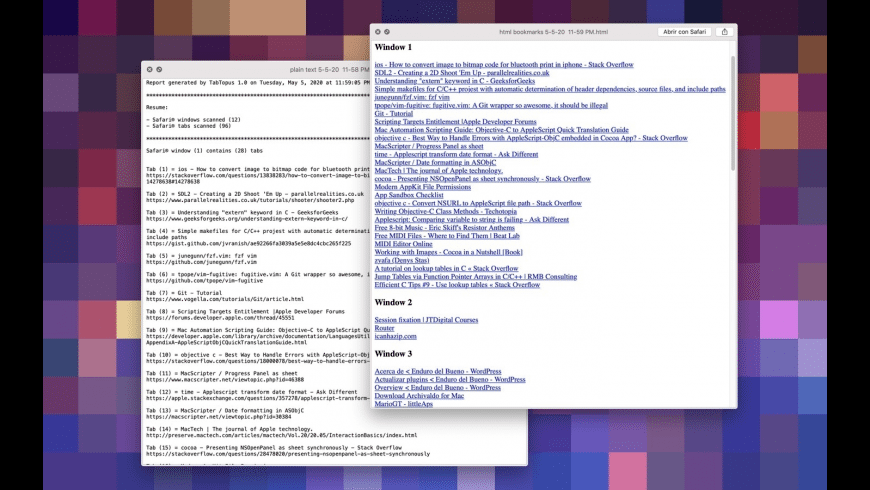 TabTopus for Mac - review, screenshots