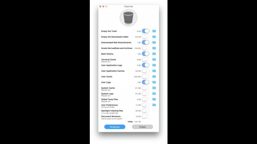 Clean Me for Mac - review, screenshots