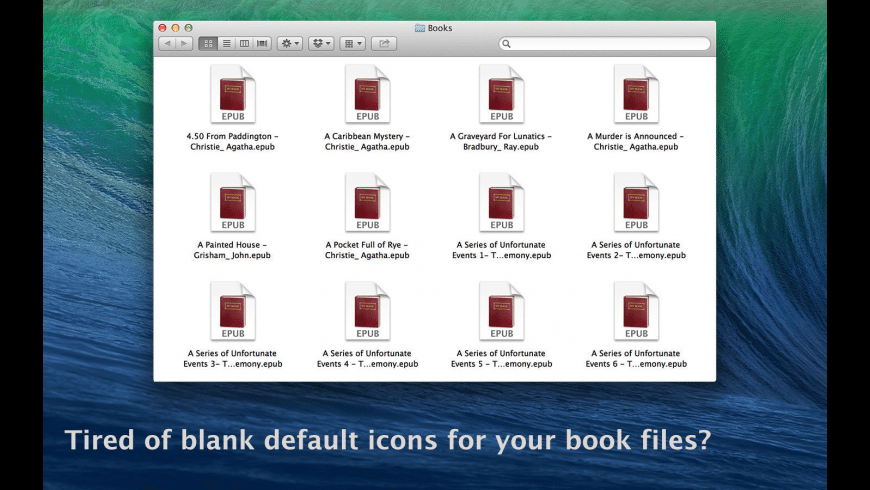 E-Book Cover Icons for Mac - review, screenshots