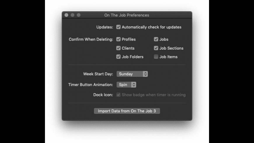 On the Job for Mac - review, screenshots