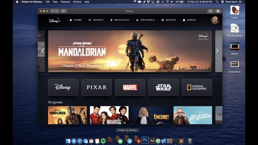 Clicker for Disney+ for Mac - review, screenshots