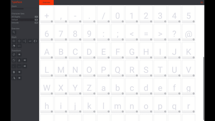 BirdFont for Mac - review, screenshots