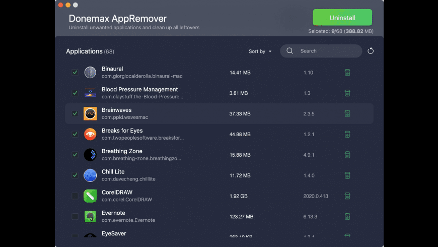 Donemax AppRemover for Mac - review, screenshots