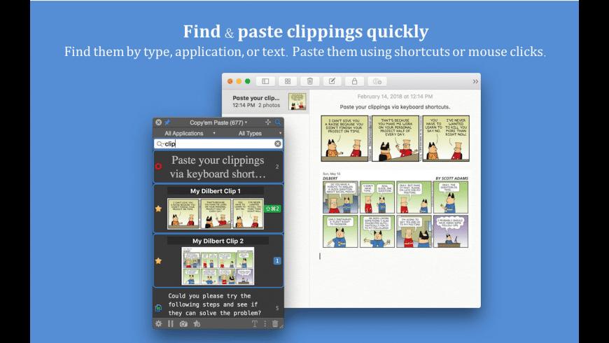 Copyem Paste for Mac - review, screenshots